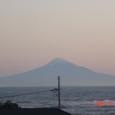 ベランダから見た富士山